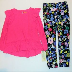 Toddler Girls 2pc Pink Floral Outfit
